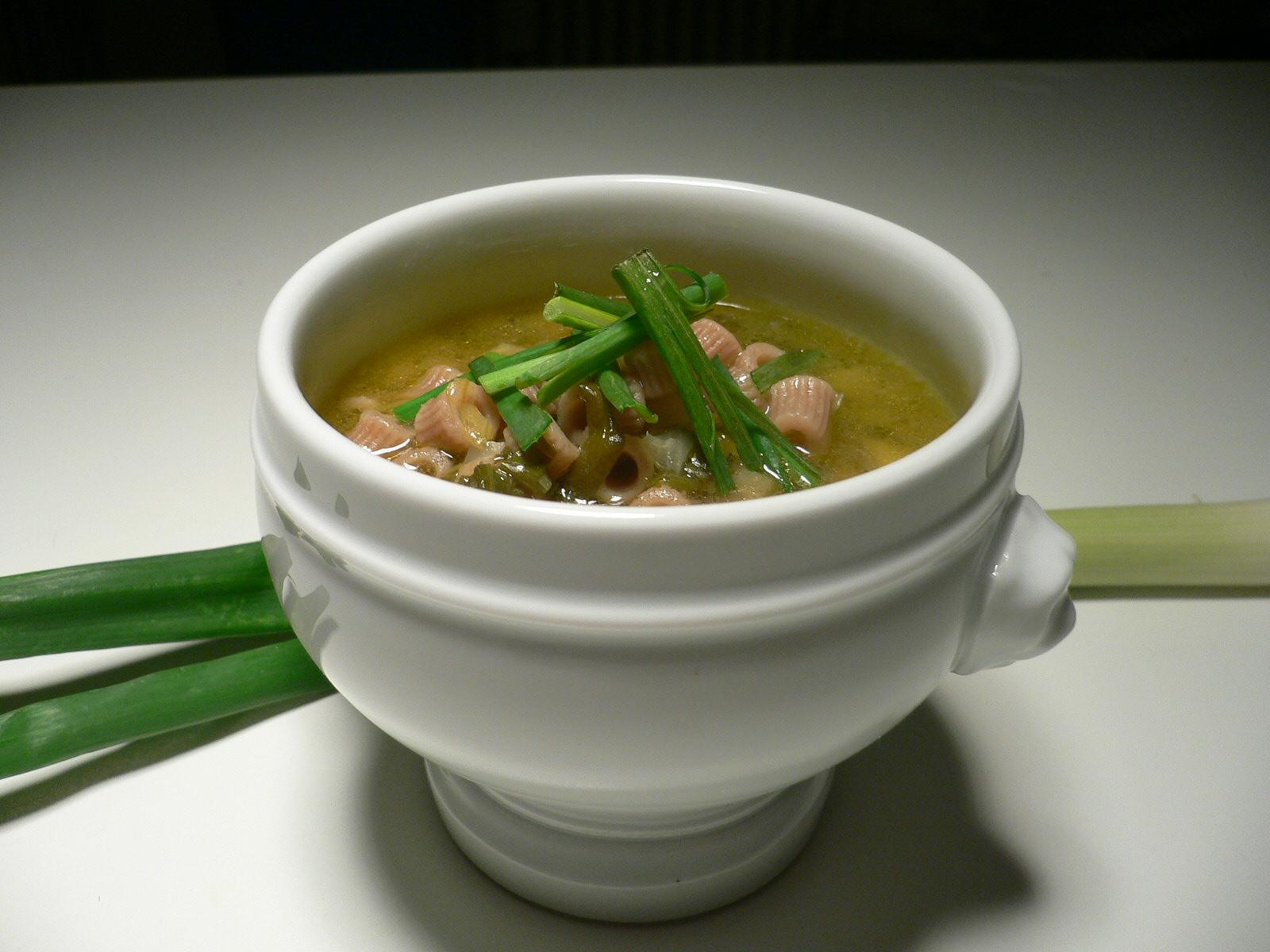 minestra di cipollotti parti verdi ecocucina